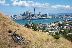 Further Road-Biking on Mt Victoria (ibikenz) Tags: bike bicycle skytower surly devonport mtvictoria singletrack crosscheck rx100 monstercross sonycybershotdscrx100 downtownauckand