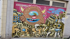 Bué the Warrior & Resto / Langestraat - 27 mar 2015 (Ferdinand 'Ferre' Feys) Tags: streetart graffiti belgium belgique bue belgië urbanart graff ghent gent resto gand graffitiart arteurbano bué urbanarte buéthewarrior