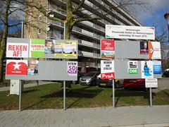 Election Posters in Nieuwegein (harry_nl) Tags: netherlands utrecht nederland parties posters elections campaign province nieuwegein waterschap 2015 provincie hoogheemraadschap partijen destichtserijnlanden