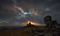 Great Staple Tor (yadrad) Tags: sunset southwest clouds granite tor dartmoor dartmoornationalpark greatstapletor thewestcountry stapletor