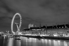 London Aquarium & Wheel (Steve the cab 2) Tags: bw london wideangle milleniumwheel southbank riverthames tokina1116