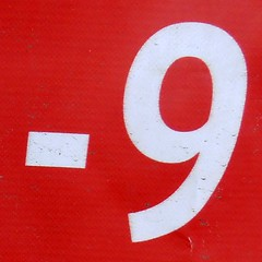09-17 (Navi-Gator) Tags: nine 9 number odd negative
