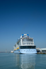Anthem of the Seas (gwpics) Tags: uk greatbritain travel cruise england tourism water relax harbor boat dock marine ship unitedkingdom harbour transport relaxing craft vessel hampshire leisure passenger southampton relaxation shipping liner