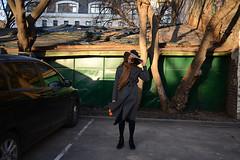 poleteli, mam (ksushasmyr) Tags: trees girl hat childhood tangerine yard court bag fly wind moscow garage mary memories mama mum string mandarin restoration reconstruction poppins garagi