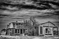 Keota (Rocky Lakes Photography / www.rockylakesphoto.com) Tags: sky blackandwhite abandoned landscape spring ruins scenery colorado outdoor may highcontrast ghosttown plains highplains keota weldcounty mattried historycoloradocenter highplainsghosts rockylakesphotography