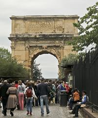 A2633ROMb (preacher43) Tags: italy rome building history architecture arch roman outdoor forum via sacra titus colesseum
