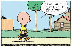 Sometimes I just like to be alone (Tom Simpson) Tags: illustration comics alone peanuts 1950s comicstrip charliebrown charlesschulz 1953 charlesmschulz
