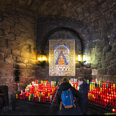 CANDLES OF HOPE (D8E_9527s) (cyppoon (Chris Poon)) Tags: barcelona catalonia montserrat blackmadonna santamariademontserrat cyppoon blackfacedmadonna