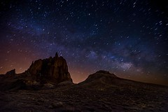 Starlight Starbright (EricGail_AdventureInFineArtPhotography) Tags: sky newmexico stars nightscape shiprock milkyway starscape canon6d ericgail adventuresinfineartphotography