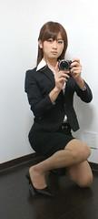 DSC00892 (mimo-momo) Tags: lady japanese office crossdressing transvestite crossdresser crossdress selfie tightskirt