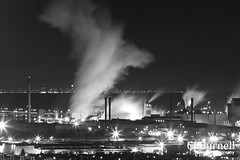 Hamilton - Industrialization (cjb_photography) Tags: nightphotography night factory nightlights streetlights steel hamilton nighttime smokestacks factories steeltown weownthenight