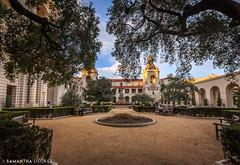 A Quiet Corner in the Courtyard (Samantha Decker) Tags: california ca cityhall wideangle socal pasadena uwa canonef1635mmf28liiusm canoneos6d samanthadecker