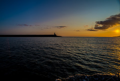 Sunrise at Fishguard (Dafydd Penguin) Tags: uk west ferry wales port sunrise coast harbor pier seaside nikon harbour britain d terminal coastal 20mm af nikkor f28 breakwater fishguard d600