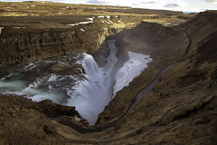 Over and onward (aerojad) Tags: longexposure travel vacation nature river landscape waterfall iceland canyon wanderlust gullfoss goldencircle hvítá daytimelongexposure iceland2016