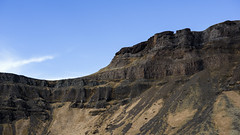 Earth folding up shrines to touch the sky (lunaryuna) Tags: panorama mountain landscape iceland textures geology lunaryuna rockformations htt columnarbasalt naturalabstracts southeasticeland texturaltuesday