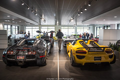 918 and Veyron (Hunter J. G. Frim Photography) Tags: silver french colorado gray wing spyder german porsche 164 carbon hybrid bugatti supercar v8 goldrush w16 veyron 918 weissach bugattiveyron hypercar bugattiveyron164 speedyellow goldrushrally porsche918spyder porsche918 weissachporsche918spyder goldrushrally8