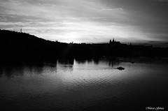 Sunset on Prague (m.genca) Tags: city sunset river boat nikon europa europe barca tramonto czech prague fiume praha praga czechrepublic acqua pedalo genca d7000 marcogenca