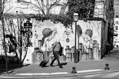(Tom Plevnik) Tags: street new city travel people urban blackandwhite paris public monochrome photography graffiti nikon flickr outdoor candid places human bnw