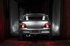 2005 Subaru WRX STI (T. Flack) Tags: lightpainting car night canon silver photography is long exposure shadows performance automotive l 70300mm