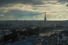 DSC01892 (Benot Mars) Tags: paris france rain sun clouds eiffel tower seine buildings weather mood