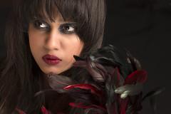 Eternally Black 1 (aimon's_world) Tags: black people girl fashion beauty red flowers paksitan islamabad hair