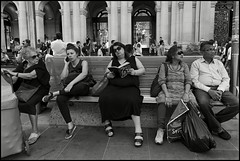 Readers #PK509246 (Jirka_S2) Tags: photography streetphotography observationoflife closeencounters bw magmag jirkas2 czech