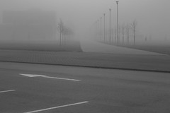 uncertainty (Mindaugas Buivydas) Tags: bw mist fog dark march spring mood moody darkness minimal minimalism klaipeda lithuania lietuva klaipda humantouch