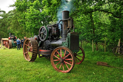 UK, Woolpit Steam Rally, Walsh & Clark Ploughing  Tractor, HDR