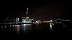 And behind ... the Shard by Renzo Piano, London, United Kingdom (monsieur I) Tags: longexposure greatbritain summer blackandwhite building london water skyline architecture speed skyscraper river europe unitedkingdom thecity wideangle renzopiano highest thethames monsieuri