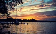 Sunset Paterswoldsemeer | Haren gn (frata60) Tags: sunset red sky people water netherlands skyscape boot boat zonsondergang nikon nederland wolken groningen lucht rood paterswolde paterswoldsemeer luchten harengn