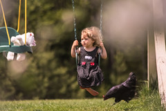 Dreamy moments... (Marla Nutbrown) Tags: chicken love girl childhood animal outdoors stuffed friend play little swing dreamy childphotography naturallightphotography marlanutbrownphotography
