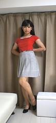 DSC08353 (mimo-momo) Tags: japanese crossdressing transvestite crossdresser crossdress flareskirt