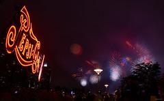 Macy's 4th of July 2016 fireworks display (bacon.dumpling) Tags: usa ny us queens longislandcity macys4thofjulyfireworks gantryplazastatepark pepsicolasign nikond750 sigma24mmf14dghsmart