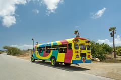 Caribbean excursion bus (timohermann) Tags: flamingos curacao curaao jankok sintwillibrordus williwood