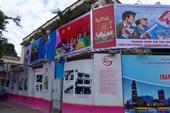 Communist Propaganda Signs, Ho Chi Minh City (Ryo.T) Tags: vietnam saigon hochiminhcity hcmc hochiminh