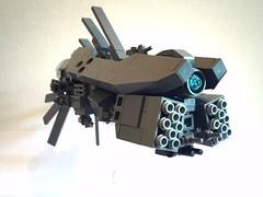 FF-2 Inflammable class Frigate ([TGS]) Tags: lego microscale microspace frigate transformer mecha