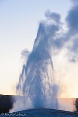 Old Faithful at Dusk (shutterdoula) Tags: yellowstone uppergeyserbasin geyser