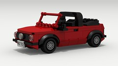 VW Cabriolet (Mk1) (LegoGuyTom) Tags: vw volkswagen golf mk1 classic vintage ff hot hatch fast speed speedster 1970s 1980s german germany lego ldd legos digital designer city download dropbox pov povray power lxf cabriolet cabrio convertible roadster