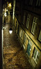 20150810-57_Night time street lights in the rain_St Malo (gary.hadden) Tags: wet rain night evening brittany streetlights streetscene stmalo xmarksthespot