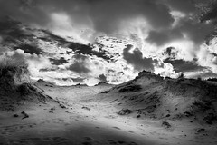 Dunes Pano (D.ROS) Tags: 2016 black bw camperduin clouds dark day duinen grass hargen hills light nature netherlands outdoor sand schoorl sea sky white supershot