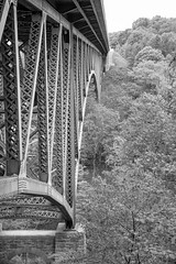 Cut River Bridge Roadside Park, Naubinway, MI, June, 2016 (Norm Powell (napowell30d)) Tags: fineart mi bridge woods cutriver cutriverbridgeroadsidepark up landscapes michigan trees bw puremichigan landscape tree travel monochrome bridges blackandwhite park naubinway upperpeninsula parks