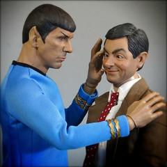 Mind Meld Fail! (MiskatonicNick) Tags: qmx spock enterbay mrbean 16 playscale sixthscale