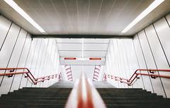 U-bahn snapshot #5 (desomnis) Tags: wien vienna ubahn subwaystation subway undergroundstation österreich austria snapshot urban architecture building modern stairs stairway ricoh street streetphotography streetshot desomnis ricohgr ricohgrdigital
