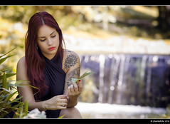 Miriam - 3/4 (Pogdorica) Tags: modelo sesion retrato posado miriam parque tattoo pelirroja chica