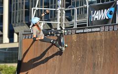 Vert Skateboarder, Amelia Brodka .... Dundas Square .... Toronto, Ontario (Greg's Southern Ontario (catching Up Slowly)) Tags: skateboarder skateboarding nikon nikond3200 toronto dundassquare ameliabrodka skateboarderameliabrodka vertskateboarding sportsphotography