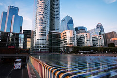 Pixel city (olga_vasiljeva) Tags: france paris dfense evening
