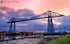 Transporter Bridge, Middlesbrough (Silent Eagle  Photography) Tags: sep silent eagle photography silenteaglephotography landscape longexposure reflection sky clouds filter middlesbrough northeast outdoor silenteagle09 canoneos7d transporter bridge transporterbridgemiddlesbrough iso100 river