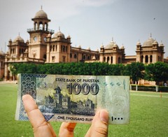 Islamia College & 1000 Rupee Note (Emaad Paracha) Tags: peshawar pakistan islamia college khyber pakhtunkhwa islam university rupee