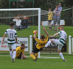 16 Sub Morganti reacts to spilled ball and scores (gurnnurn.com pictures) Tags: nairn county fc wee buckie thistle jags highland league august 2016 station park