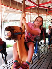 MY GRANDDAUGHTER, ANGELINE RIDES THE HORSE (Visual Images1) Tags: angeline granddaughter rosspark binghamton zoo carousel